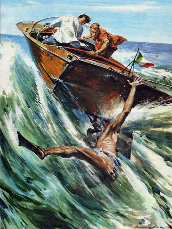 Walter Molino un plongeur qui se fait hacher par le moteur d'un hors-bord